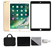 Apple iPad 9.7 128GB Wi-Fi with Keyboard & Accessories - Gold - E292870