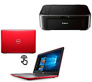 Dell 15 Touch Laptop, Core i3 8GB RAM 1TB HDD 1-Yr ADP and Canon Printer - E231871