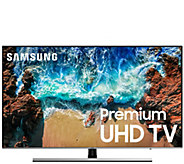 Samsung 55 LED Flat 4K UHD Smart TV w/ HDMI Cable & 2-Yr Warranty - E232171
