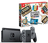 Nintendo Switch Bundle w/ 4 Games, Case & Labo Variety Pack - E232271