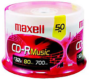 Maxell 80-Minute/700MB CD-R Music - 50 Pack - E245671