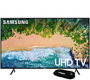 Samsung 50 Class LED Flat 4K HDR Ultra HDTV &6 HDMI Cable - E294471