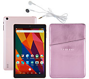 NuVision 8 HD Android 16GB Quad Core Tablet with Case &Headphone - E230572