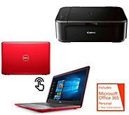 Dell 15 Touch Laptop, Core i3 8GB RAM 1TB HDD 1-Yr ADP, Canon Printer, Office - E231872