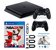 Sony PS4 1TB Bundle w/ NBA 2k18, 2 Controllers & App Pack - E232272