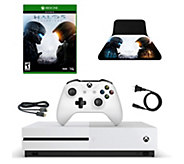 Xbox One S 500GB Console with HALO 5 Game and Controller Stan - E292772