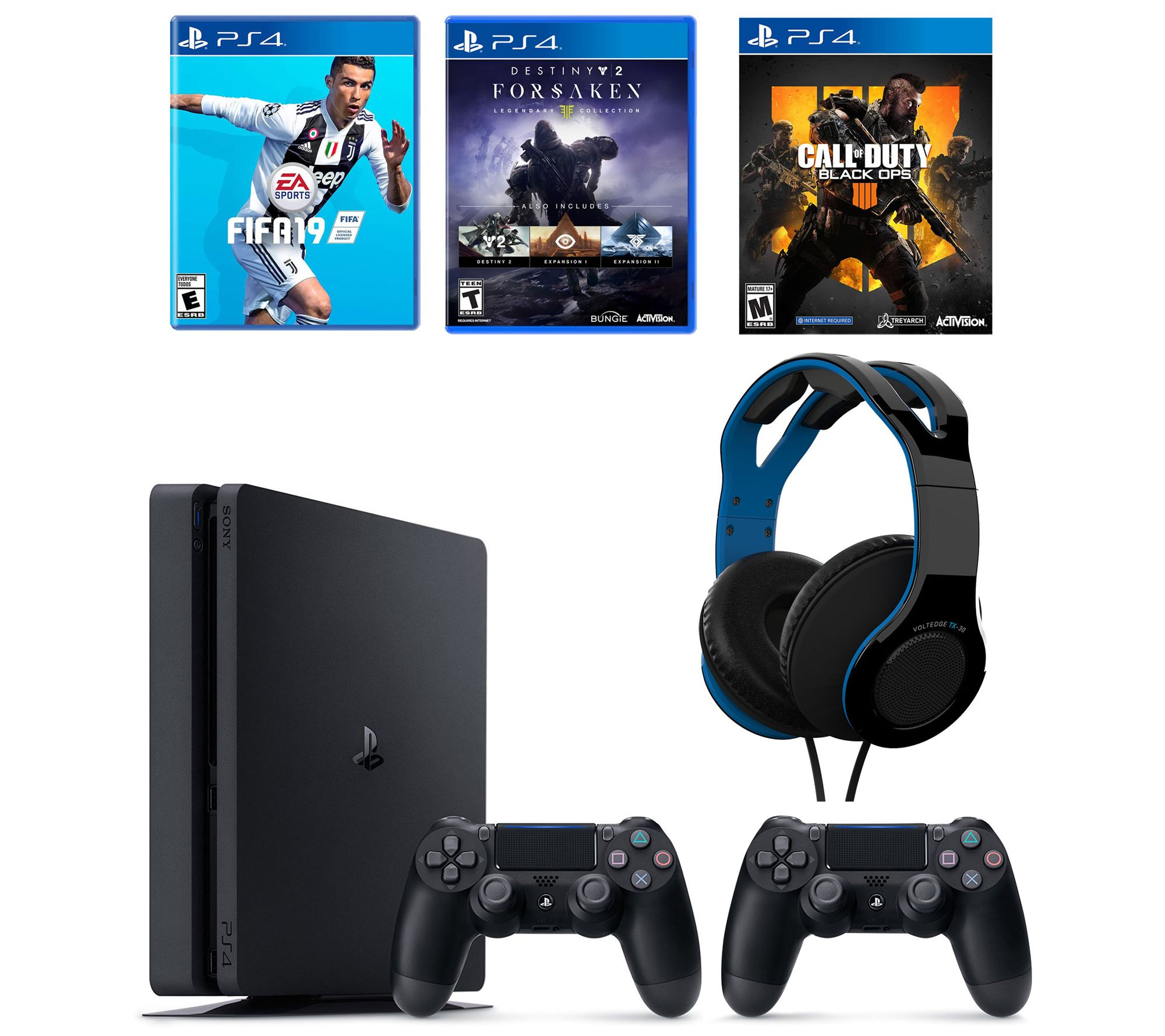 Sony PS4 1TB Bundle with 3 Games Headset & Extra Controller — QVC com