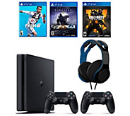 Sony PS4 1TB Bundle with 3 Games Headset & Extra Controller - E232673