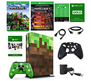 Xbox One S 1 TB Minecraft Limited Edition andGame Pass - E294373
