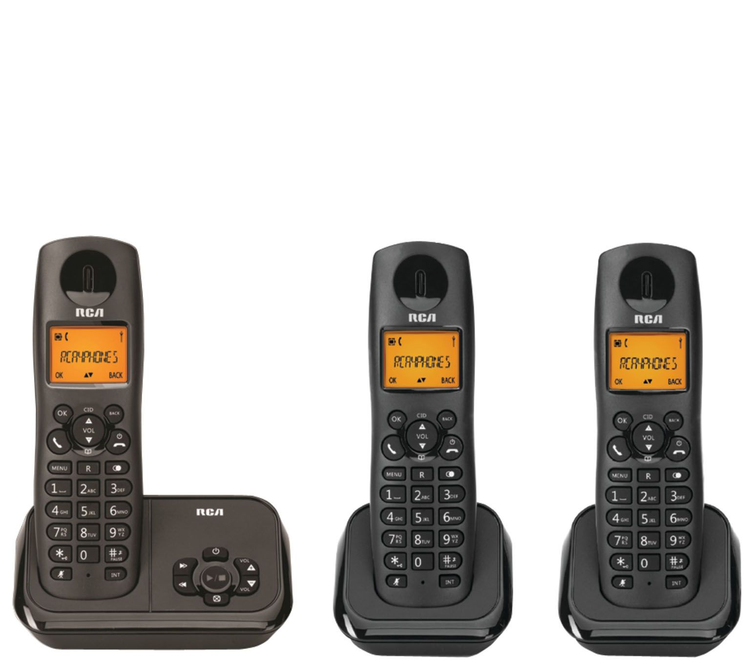 RCA DECT 6 0 Three-handset Phone/Answering System w/ Caller ID — QVC com