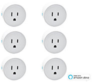 Digital Gadgets 6-Pack of Mini Smart Plugs Set Timers, Control Devices - E231974
