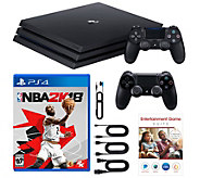 Sony PS4 Pro 1TB Bundle with NBA 2K18 and 2 Controllers - E232274