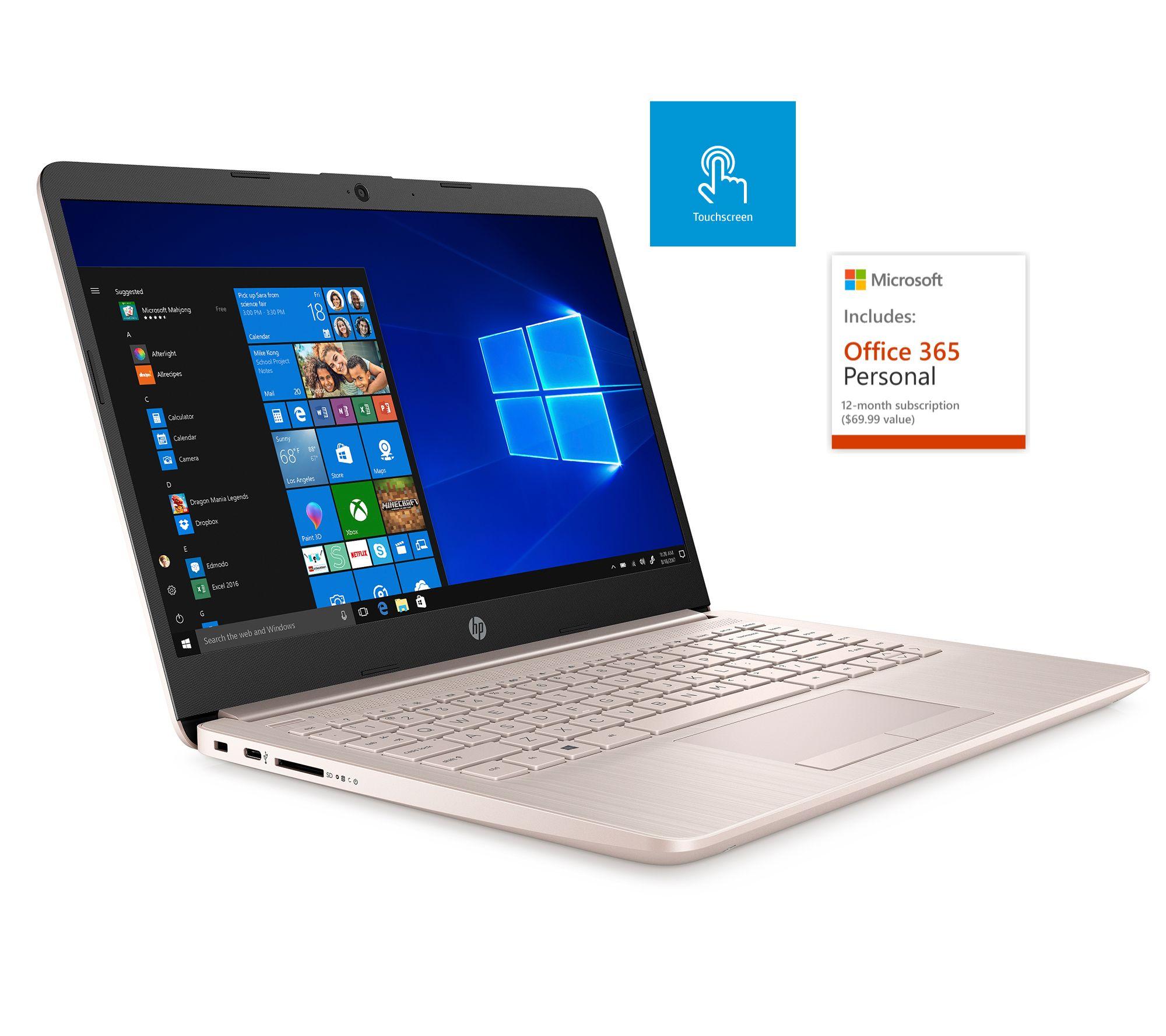 Hp 14 Quot Touch Laptop Intel 4gb Ram 64gb Emmc Office 365