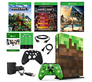 Xbox One S 1 TB Minecraft Console w/ AssassinsCreed Origins - E294375