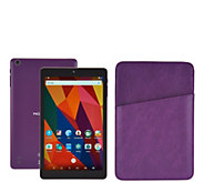 NuVision 8 IPS Tablet 16GB Quad Core w/ Carry Sleeve - E229876