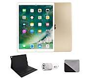 Apple iPad Pro 12.9 256GB Wi-Fi & BluetoothKeyboard - Gold - E293076
