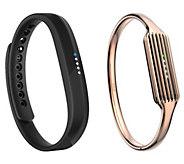 Fitbit Flex 2 with Rose Gold Bangle Bracelet - E231377