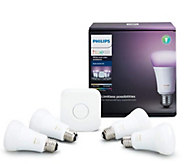 Philips Hue Starter Kit with 4 LED Color Bulbs & Motion Sensor - E232678