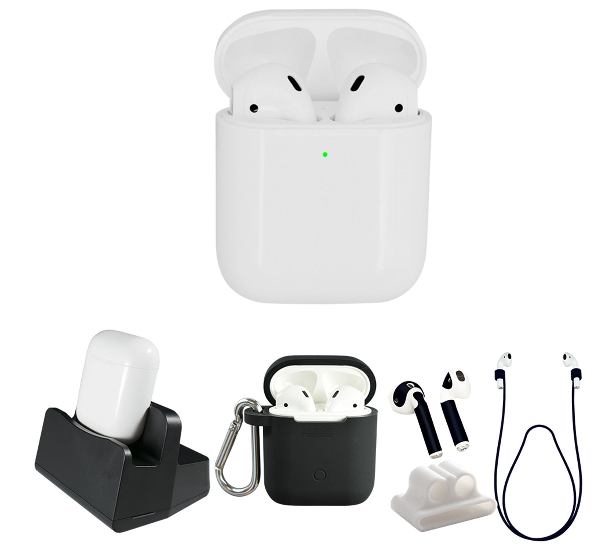 ee118fafa60 Apple AirPods 2nd Generation with Wireless Charging Case & Accessories -  Page 1 — QVC.com