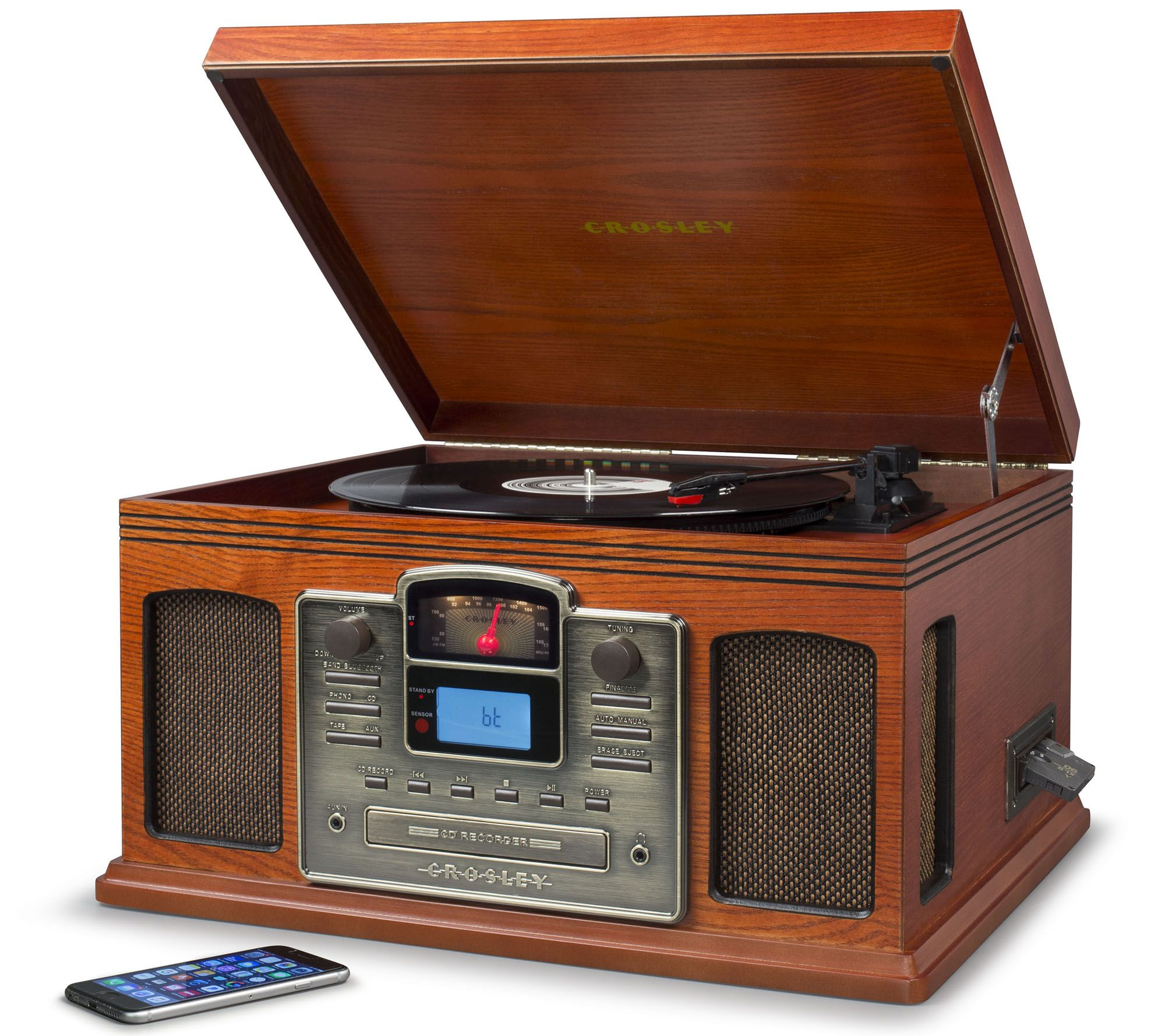 Crosley Radio Bluetooth Turntable With Cd Cassette Players Page