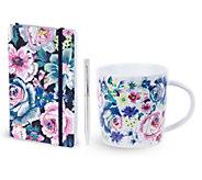 Vera Bradley Journal with Pen and Mug Set - E306279