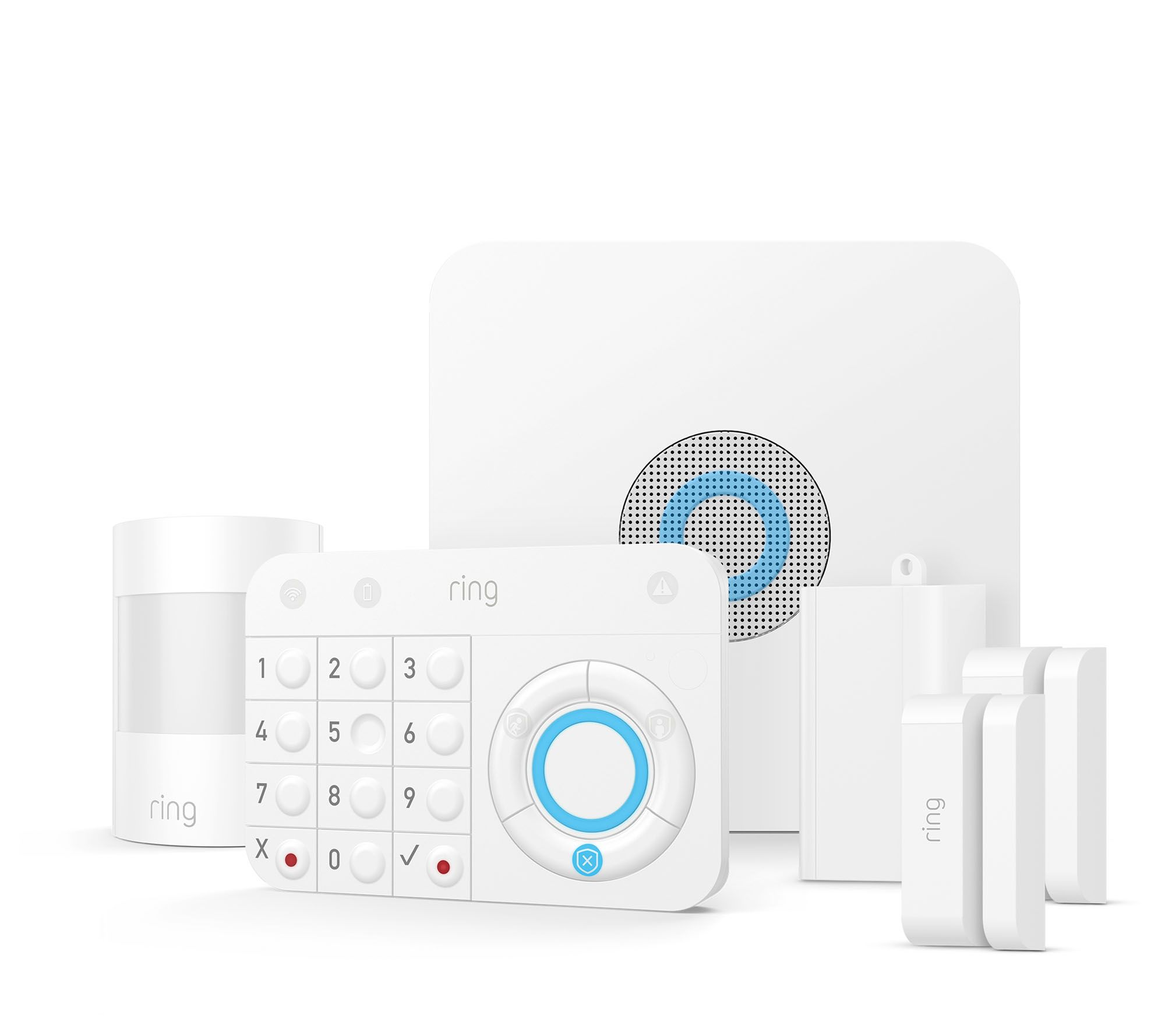Ring Alarm Home Security System with Motion, Door & Window Sensors — QVC com