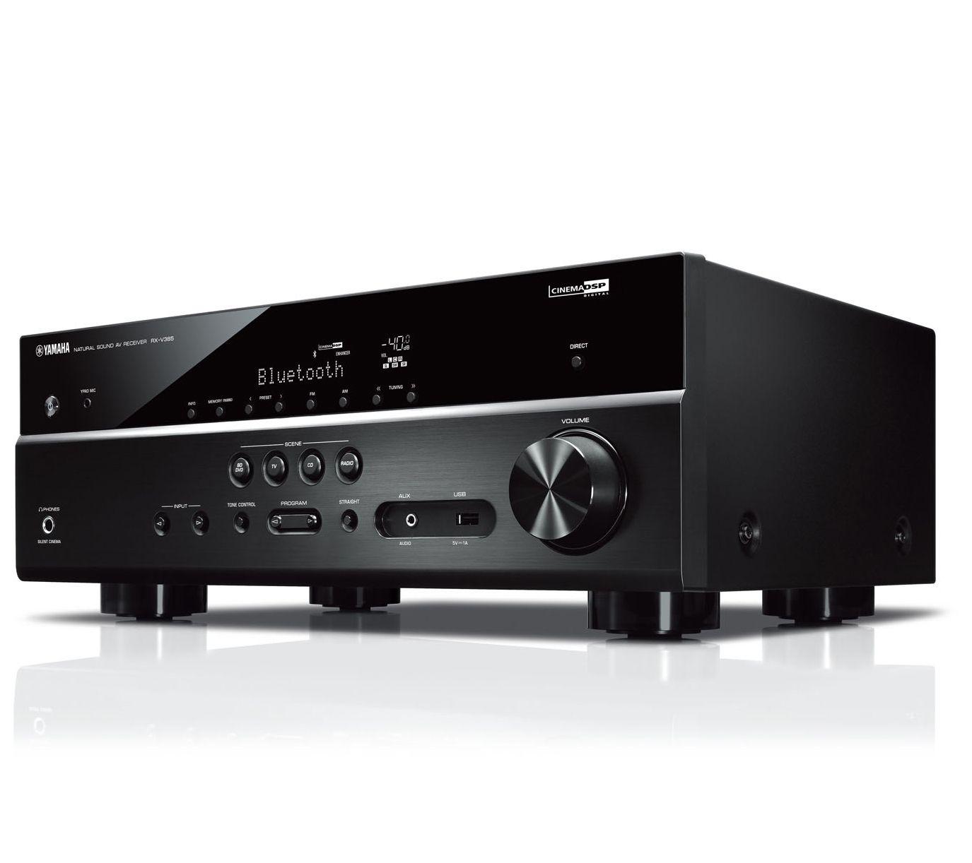 Yamaha RX-V385 AV 4K Receiver w/ MusicCast — QVC com