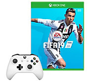 FIFA 19 & Xbox One Controller - White - E295881