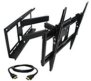 MegaMounts Full-Motion 26 to 55 TV Wall Mount w/ HDMI Cable - E287482