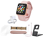 Apple Watch Series 3 GPS 42mm with Nylon Band, Earbuds & More - E231483