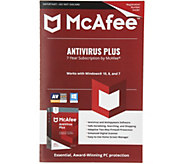 McAfee Antivirus Plus PC Protection For 7 Years 1 User - E231883