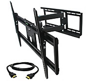 MegaMounts Full-Motion 32 to 70 TV Wall Mount w/ HDMI Cable - E287484