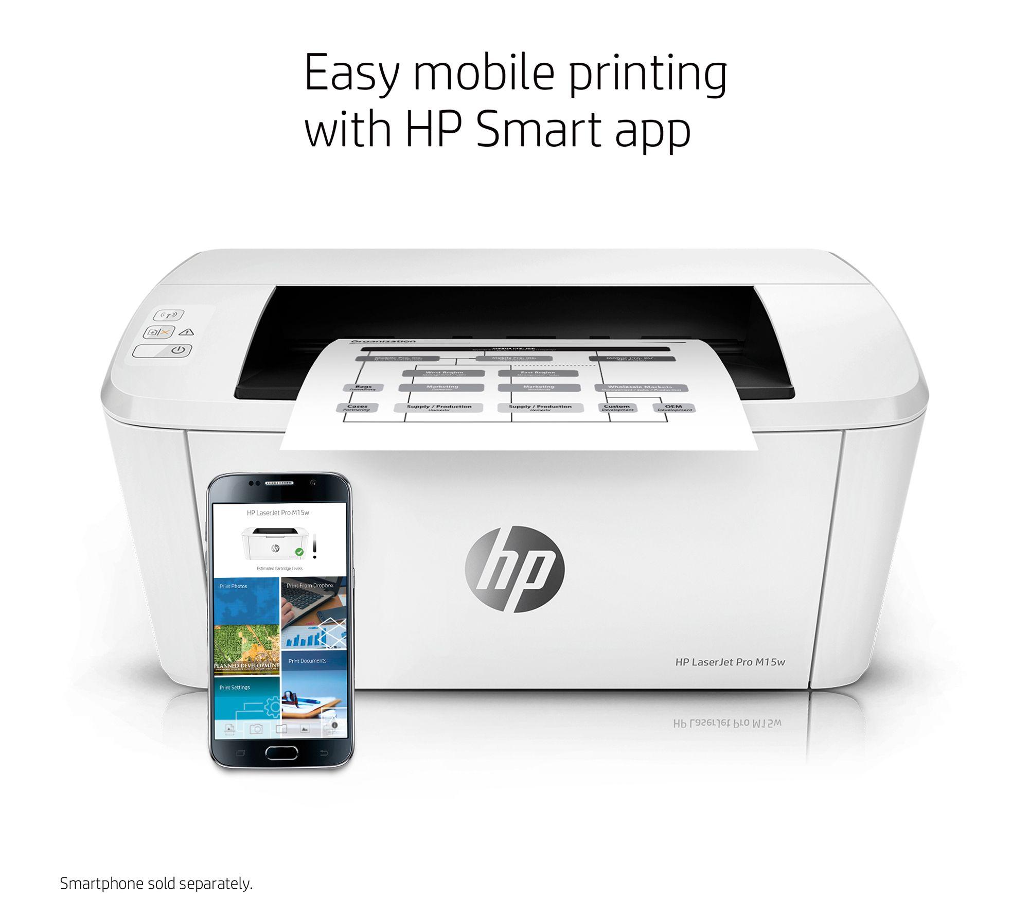 HP LaserJet Pro M15w Printer with Wi-Fi, AppleAirPrint — QVC com