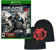 Xbox One Gears of War 4 Game and Beanie - E291286