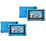 Amazon Fire 8 2-Pack of 32GB HD Kids Edition Tablets, Cases & Software Kit - E232188