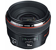 Canon EF 50mm f/1.2L USM Telephoto Lens with Case and Hood - E245388
