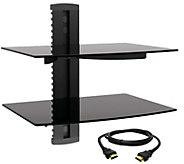 MegaMounts Tempered Glass Double-Shelf Mount w/HDMI Cable - E287488