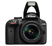 Nikon D3400 Dual Lens Camera Kit with 16GB SDCard & Voucher - E295388