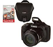 Canon PowerShot SX530 HS 16MP 50X Zoom Wifi Digital Camera w/ Case and SD - E231989