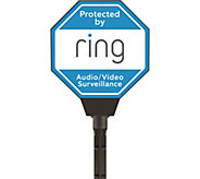 Ring Solar Powered Light-up Security Yard Sign - E231490