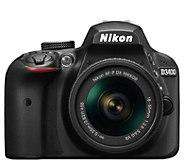 Nikon D3400 DSLR Camera 18-55mm Lens Bundlew/16GB SD Card - E295390