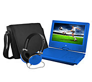 Ematic 9 Portable DVD Player with Headphones &Carrying Bag - E277491
