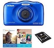 Nikon Coolpix W100 Waterproof Digital Camera with 1080p Video - E290691