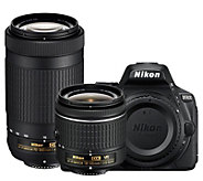 Nikon D5600 DSLR Camera w/ NIKKOR 18-55mm & 70-300mm Lenses - E295392