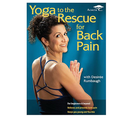 yoga to the rescue for back pain  dvd — qvc