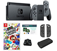 Nintendo Switch Bundle with Super Mario Party, Case and Accessories - E232694