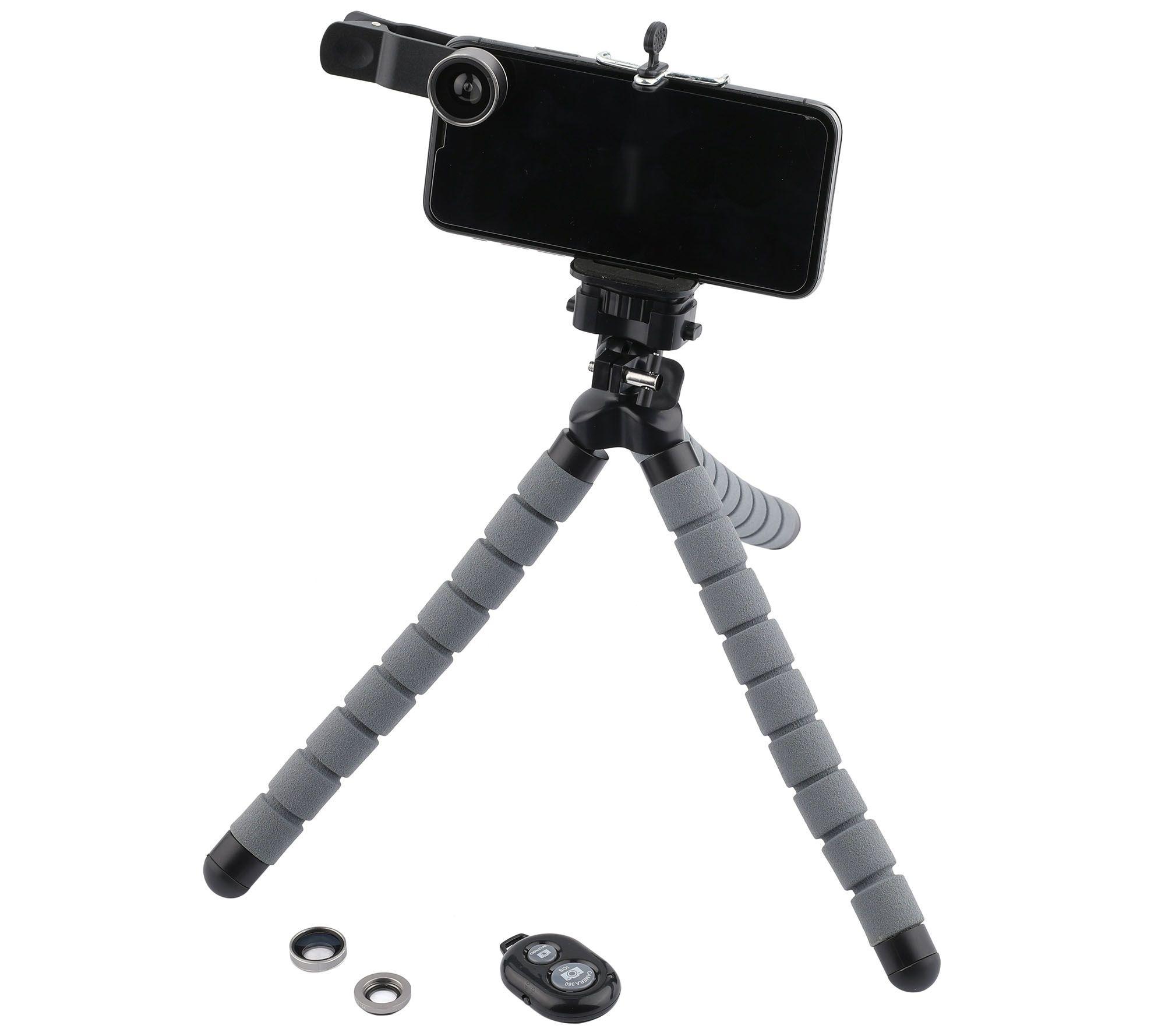 Poser Snap Pro 6 Piece Mobile Photo Video Studio Kit With Tripod