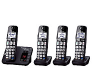 Panasonic Cordless Phone System w/ 4 Handsets &Answer Machine - E277198