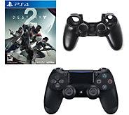 PS4 DualShock 4 Controller, Destiny 2 &Silicone Sleeve - E293098
