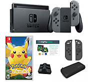 Nintendo Switch Bundle with Pokemon Lets Go Travel Case and Accessories - E232699
